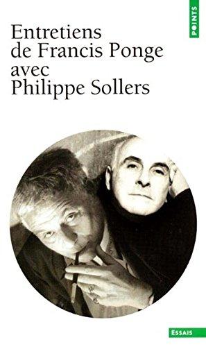 Entretiens de Francis Ponge avec Philippe Sollers
