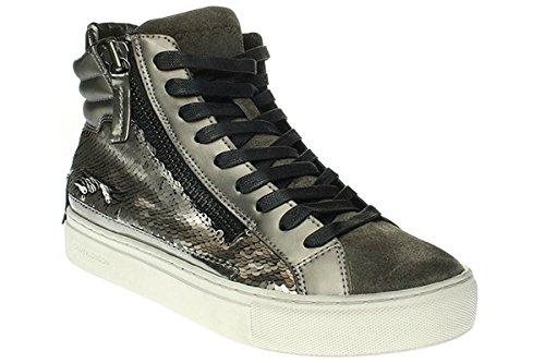 Crime London 25387A16B - Damen Schuhe Sneaker Schnürer Beige