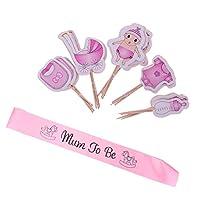 MagiDeal-20Stck-set-Cake-Topper-Tortenstecker-Tortenfigur-und-Schrpe-Set-Geburtstags-Baby-Taufe-Party-Dekor