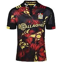 CRBsports Waikato Chiefs, Rugby Jersey, 2018, Nueva Tela Bordada, Swag Sportswear (Negro, L)