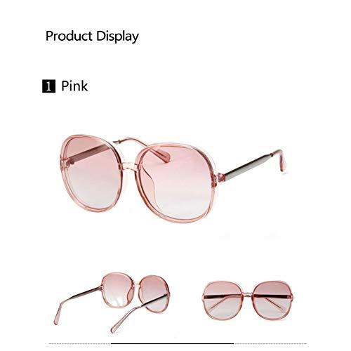 YLNJYJ Sonnenbrillen Frauen Sonnenbrillen Marke Italien Design Platz Sonnenbrillen Mädchen Rosa Rahmen Klare Linsen Gafas De Sol Mujer