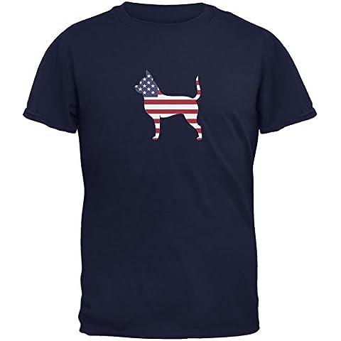 4. Juli patriotischen Hund Chihuahua Adult T-Shirt Navy