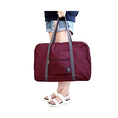 Henreal Reisetaschen, faltbar, wasserdicht, für Handgepäck Weinrot