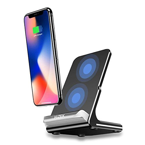 Wireless Charger, Hizek Qi Wireless Schnelladegerät, Kabelloses Ladestation Drahtlose Charger für Alle Qi Gerät, iPhoneX, iPhone8/8plus/Galaxy Note8/S8/ S8 Plus/S7/S7Edge/S6Edge Plus