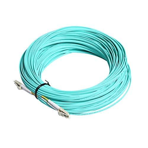 10Gtek® LWL Patchkabel Multimode 50m- LC zu LC OM3 Duplex Glasfaserkabel 50/125µm Fiber Cable LSZH für SFP/10G SFP+ & Medienkonverter, Available 1m to 50m, MEHRWEG