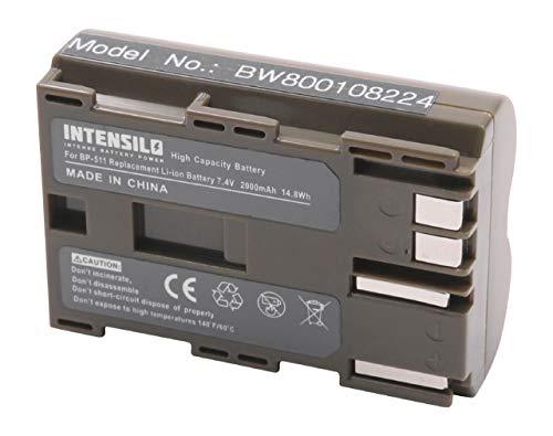 INTENSILO Li-Ion Akku 1900mAh (7.4V) für Kamera Camcorder Video Canon Optura-Serie, Powershot-Serie, ZR-Serie wie BP-508, BP-511, BP-535. -