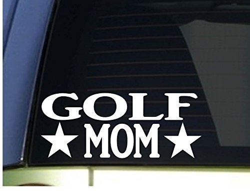 Car Decals and Stickers Golf Mom Sticker *H342* 8.5 inch Wide Vinyl Driver Putter Golfball cart