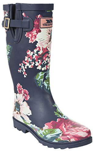 Trespass Women's Elena Wellington Boots, Purple (Floral Print), 8 UK 41 EU