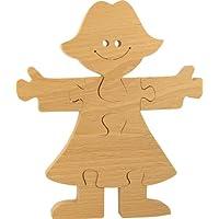 MUSIKID Puzzle à peindre bois enfant. Puzzle princesse loisirs créatifs 100% hêtre. Fabriqué Europe