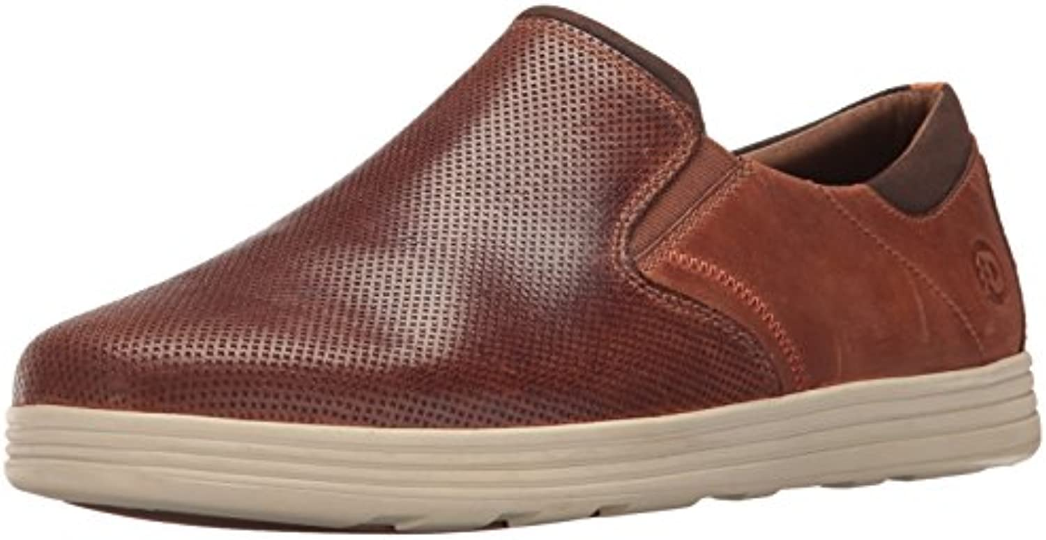 Dunham Men's Colchester Slipon Fashion Sneaker  Brown  14 4E US