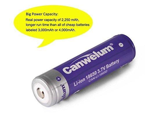 Canwelum 3,7V Lithium-Ionen 18650 Akku und Ladegerät - 8