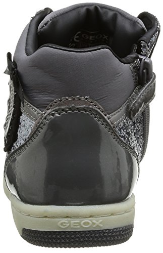 Geox Jr Creamy, Baskets mode fille Gris (Grey)