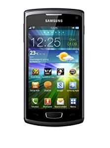 Samsung Wave 3 S8600 Smartphone (10.2 cm (4 Zoll) Super AMOLED-Touchscreen, 1.4 GHz Prozessor, 5 MP Kamera) metallic black