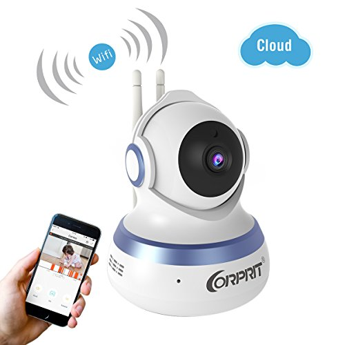 Wireless WIFI IP Security Camera 1080P, Corprit Cloud Storage Live Steam WIFI baby monitor Home Surveillance IP Camera, Pan/Tilt, Two Way Audio, Night Vision by Android iOS App 41iGNFAExtL