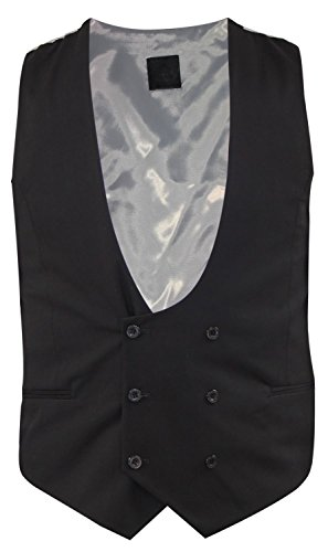 Ex-Branded Mens Designer Double Breasted Slim Fit Horseshoe Formal Smart Casual Waistcoat
