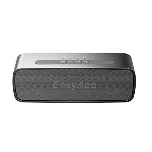 EasyAcc Bluetooth Lautsprecher SoundX 10W Wireless Speaker 20 Stunden Abspielzeit mit Eingebauten Mikrofon und 3.5mm AUX Eingang Micro SD Kartenslot Farbe: schwarz