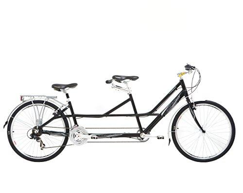 Indigo Turismo 1, Unisex Tandem Bike, 21 Speed, 26 Inch Wheel, Black