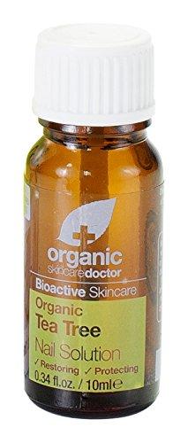 Dr. Organic - Tea Tree Antimykotische Nail Lösung. Antibakteriell, Wiederherstellen und Schützen. - Jojoba Aceite De