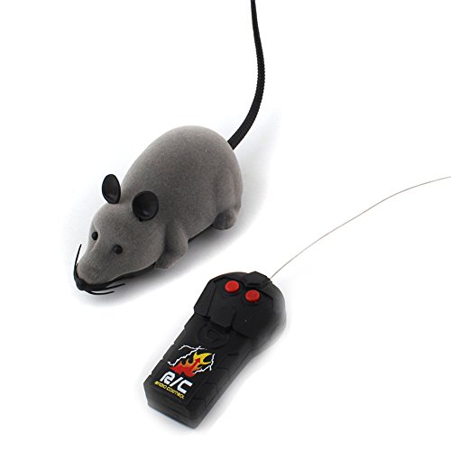 Rrimin Remote Control RC Rat Mouse Wireless For Cat Dog Pet Toy Novelty Gift (1 pc)