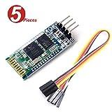 DollaTek 5Pcs HC-06 Wireless-4 Pins Bluetooth HF-Transceiver Serial Module 4 Satz-Kabel für Arduino