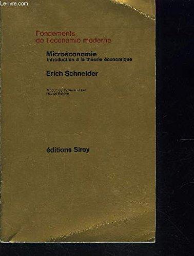 Microéconomie, introduction à la théorie économique