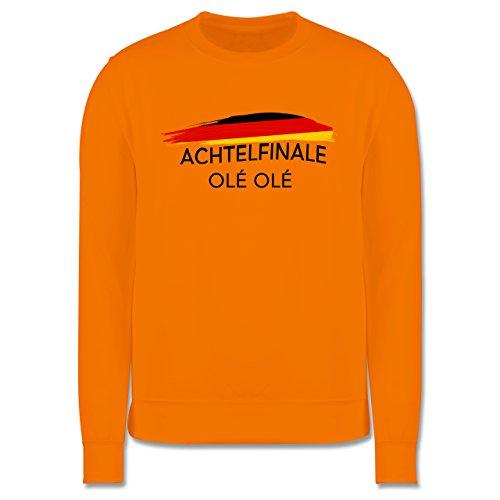EM 2016 - Frankreich - Deutschland Achtelfinale Olé Olé - Herren Premium Pullover Orange