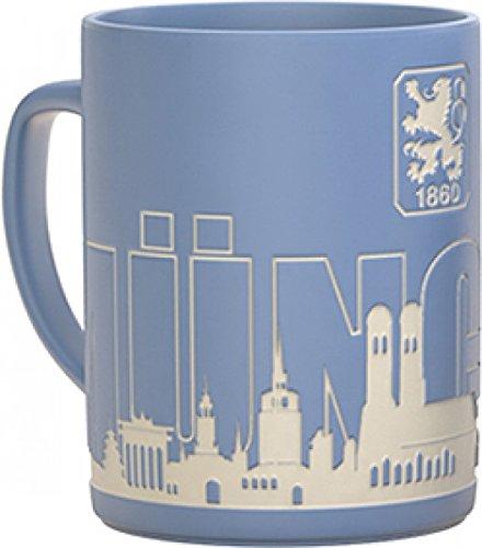 TSV 1860 München - Tasse Skyline Kaffetasse hellblau 0,3l