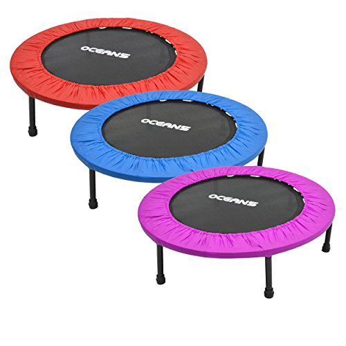 Ocean5-Easy-Jump-100-Fitness-Trampolin-mit-Randabdeckung-Minitrampolin-82-90-cm--Gesundheitstrampolin-bis-120-kg-belastbar