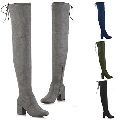 ESSEX GLAM Womens Thigh High Boots – FootWear4You a1a74543272c