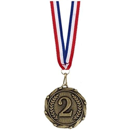 45 mm Combo 2. Platz Medaille Gold, plus gratis Gravur (bis zu 30 Buchstaben AM902G (Gold-medaille-combo)