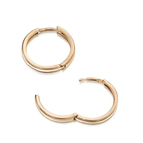 Amberta Cerchi in Argento Sterling 925 - Placcato Oro Rosa da 14k - Cerchio Orecchini - Huggie Orecchini - Diametro: 20 mm