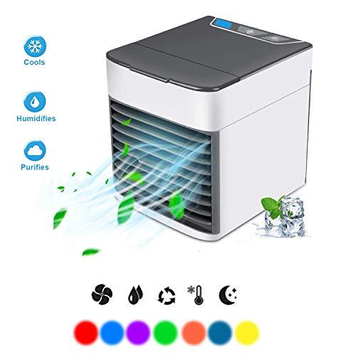 Raumkühler,Tragbar Mini USB Arktis Persönlich Platz Luft Zirkulator Kühler Luftbefeuchter Desktop Kühlung Ventilator zum Zuhause Büro Wohnheim