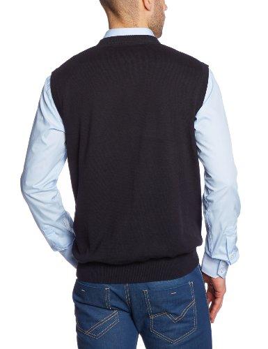 CASAMODA Herren Pullunder Comfort Fit 004160/80 Schwarz (80 schwarz)