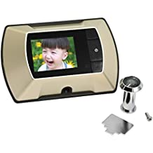 Gosear® Mirillas digitales para puertas, cámara mirilla al electronica (Pantalla 2.4'' de LCD)