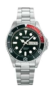 Yema - YM9291 - Collection mer - Sous Marine - Montre sport - Analogique 3 aiguilles - Bracelet en acier