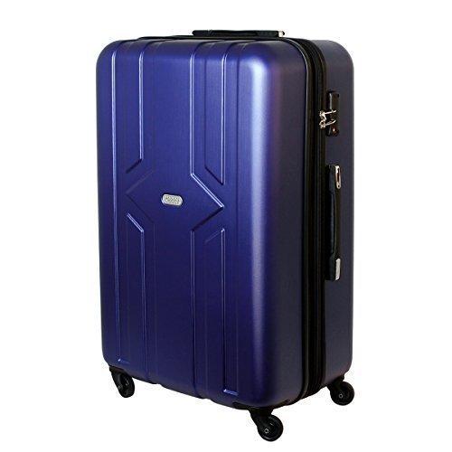 XXL Karry Hartschalen Koffer Reisekoffer Trolley TSA Zahlenschloss Hinomoto Rollen YKK Zipper 100 Liter Blau 821