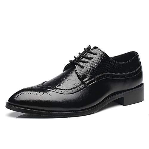 Scarpe francesine uomini pointed toe ufficio elegante classico oxford scarpe