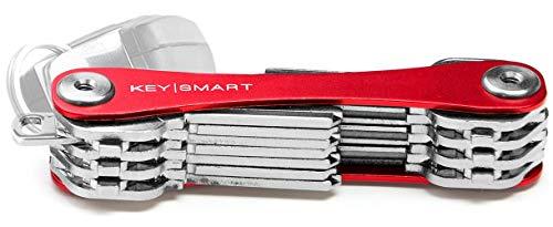 KeySmart Extended | Compacto llavero y organizador (2-22 llaves, rojo)