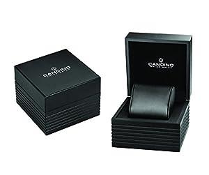 Candino reloj mujer de cuarzo con Negro esfera analógica pantalla y correa de cuero negro C4593/4 de Candino