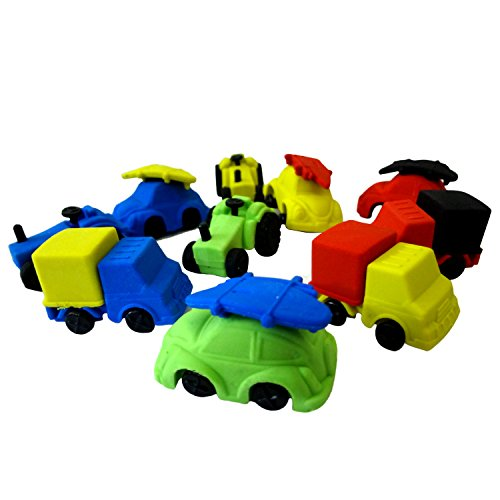Party Propz 3D Car Erasers for Car Theme Birthday Return Gift Or Return Gifts for Kids (Set of 36)