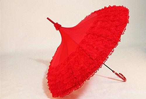 BKB Ock Umbrellas Lace Pagoda Hochzeit Regenschirm Regenschirm Sonnenschirm 16K Wind Und Regen HNLJ