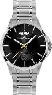 Reloj de caballero JACQUES LEMANS Sydney 1-1540D de cuarzo, correa de acero inoxidable color plata de Jacques Lemans