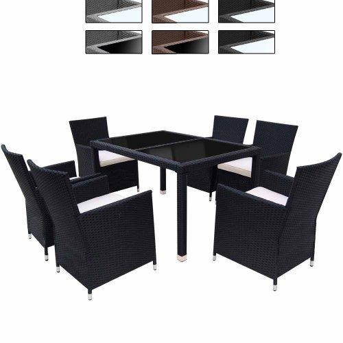 Miadomodo Salotto giardino esterno set tavolo e sedie giardino in