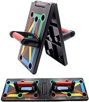 Cretee 9 in 1 opvouwbaar push-up rek board met handgreep voor spiertraining effectief vormen