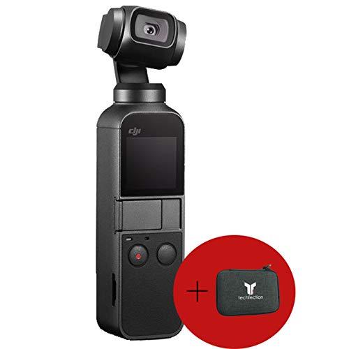 DJI Osmo Pocket Handheld 3-Achsen Gimbal Stabilisator Stabilizer mit integrierter Kamera 4k HD Video (1/2.3 Zoll Sensor mit 80° Sichtfeld und F2.0 Blende)
