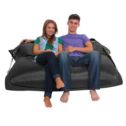 Bazaar Bag Großer Sitzsack mit Gurten, Schwarz (für Innen- und Außenbereich) - 5