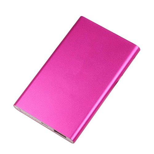 Portable 4000mAh Power Bank Fall Box DIY Kit Leiterplatte + Shell für Smartphone Thin Reis Schnellladung mobile Power Verschachtelung (Hot Pink) (Pink Box-taschenlampe)