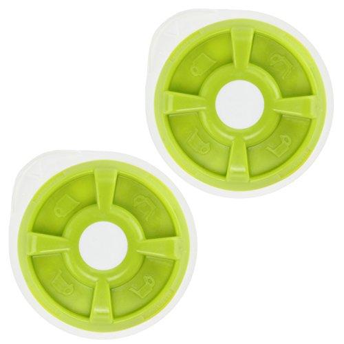 Spares2go Eau chaude T Disc pour Bosch Tassimo T12 T20 T32 T40 T42 T65 T85 ou Vivy machine à café (Vert, Lot de 2)