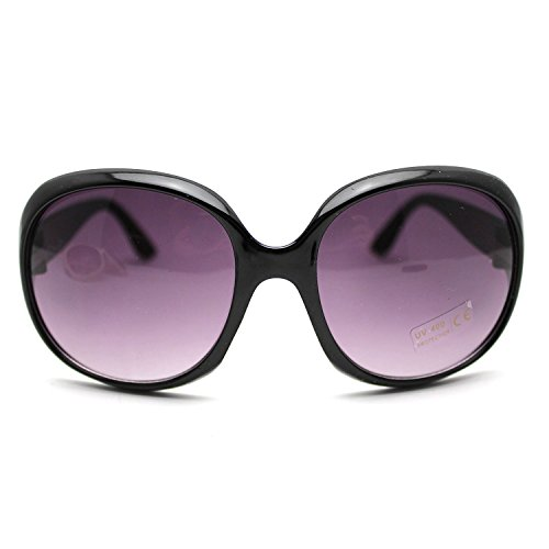 HuaYang Sexy Mode Frauen Vintage Große Rahmen Sonnenbrille Schutzbrille Schatten Brille (Schwarz)