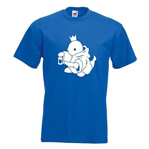 KIWISTAR - Boss Fight King König T-Shirt in 15 verschiedenen Farben - Herren Funshirt bedruckt Design Sprüche Spruch Motive Oberteil Baumwolle Print Größe S M L XL XXL Royal